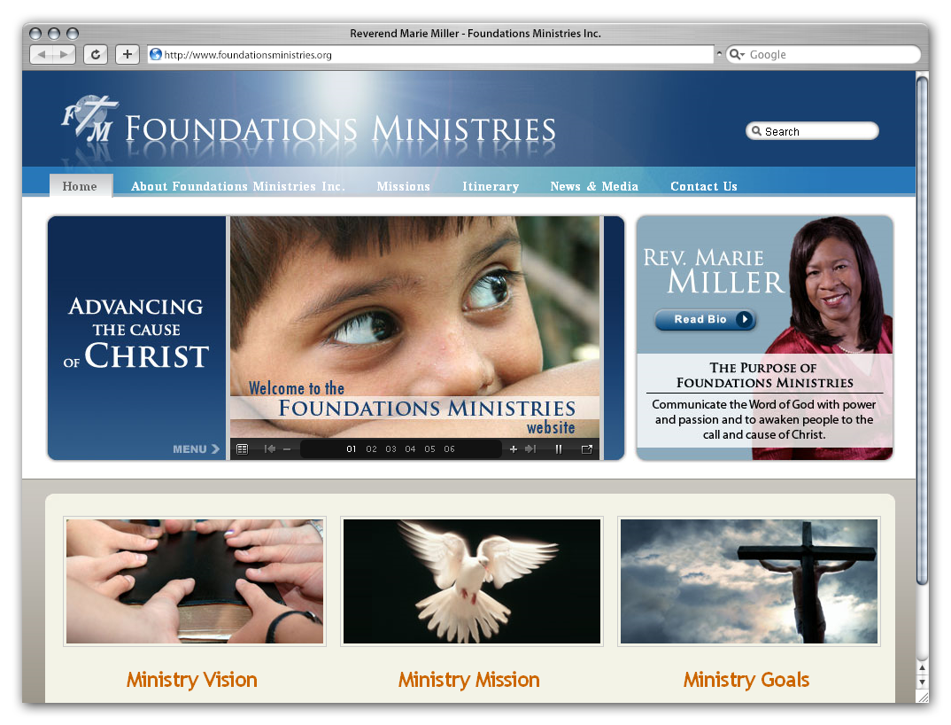 Foundations Ministries Inc. by Phenom Design Studio