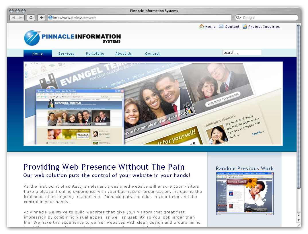 Pinnacle Information Systems by Phenom Design Studio